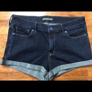 Abercrombie & Fitch Denim Shorts size 10 30 dark